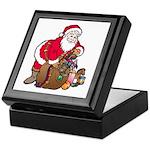 Christmas Art Santa and Toys Keepsake Box