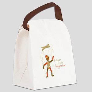 Follow Imagination Canvas Lunch Bag