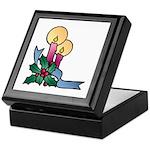 Christmas Art Candles and Holly Keepsake Box