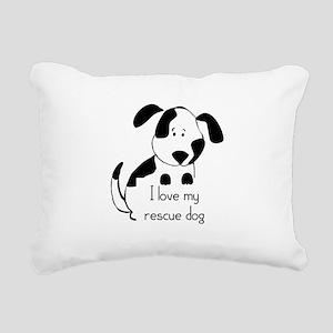 I love my rescue Dog Pet Humor Quote Rectangular C