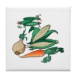 Nature Art Vegetable Design Tile Coaster