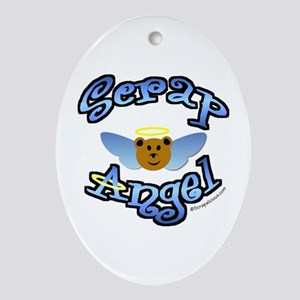 Scrap Angel Oval Ornament