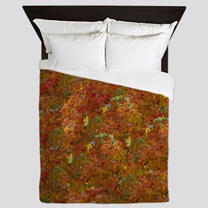 leaves changing Queen Duvet