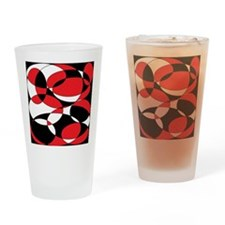 Black, white and Red Ellipticals Drinking Glass