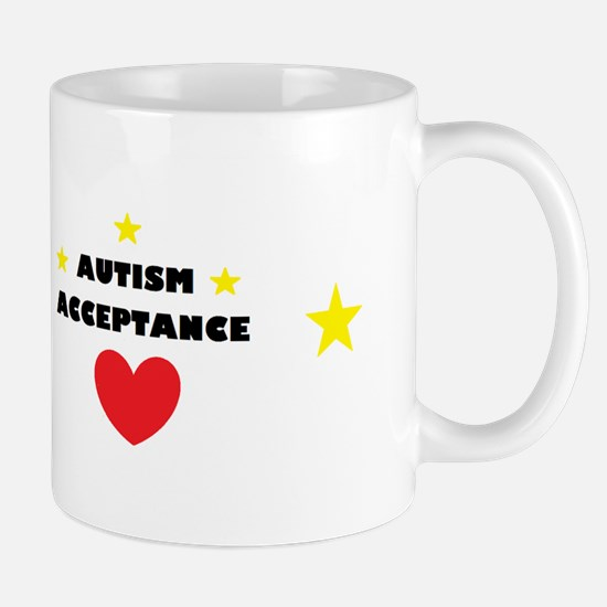 Autism acceptance with 4 stars Mug