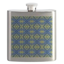 Wavy blue and yellow lines Flask