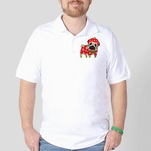 Snowflake Pug Golf Shirt
