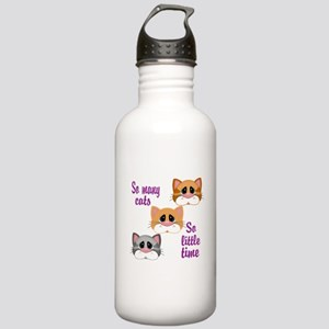 So Many Cats So Little Time Water Bottle