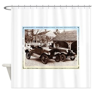 Picture Of Vintage Car Shower Curtains
