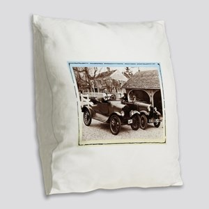 VintageAuto - Burlap Throw Pillow