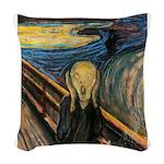 The Scream Woven Throw Pillow