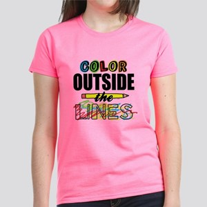 Color Outside The Lines Women's Dark T-Shirt