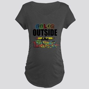Color Outside The Lines Maternity Dark T-Shirt