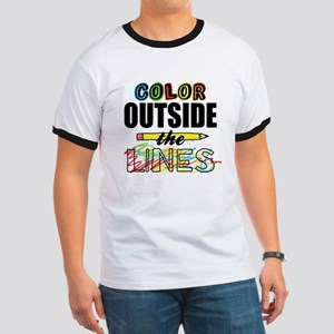 Color Outside The Lines Ringer T