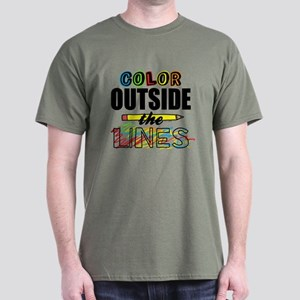 Color Outside The Lines Dark T-Shirt