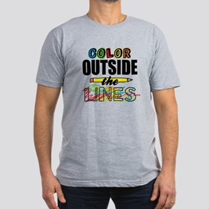Color Outside The Line Men's Fitted T-Shirt (dark)