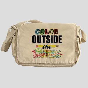 Color Outside The Lines Messenger Bag