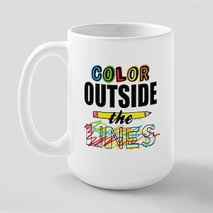 Color Outside The Lines Large Mug