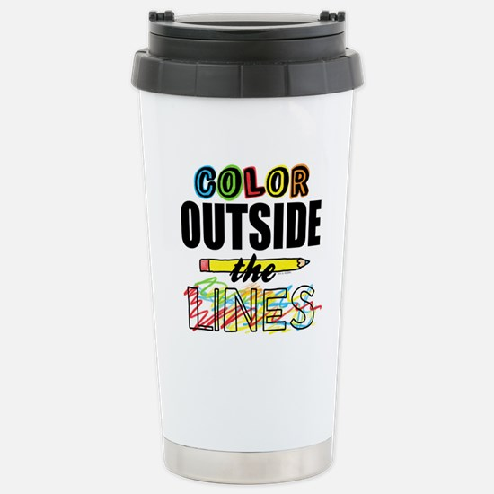 Color Outside The Lines Stainless Steel Travel Mug