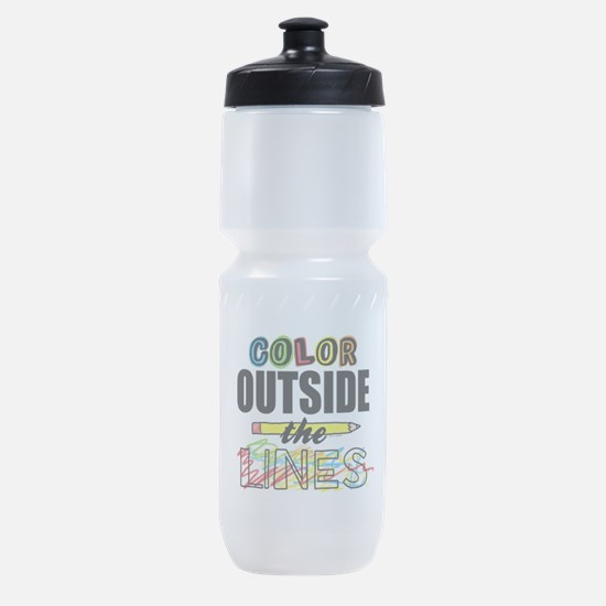 Color Outside The Lines Sports Bottle