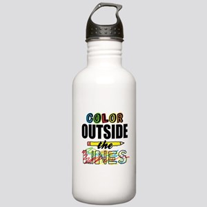 Color Outside The Line Stainless Water Bottle 1.0L