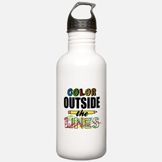 Color Outside The Line Water Bottle