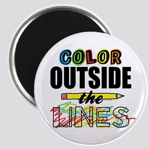Color Outside The Lines Magnet