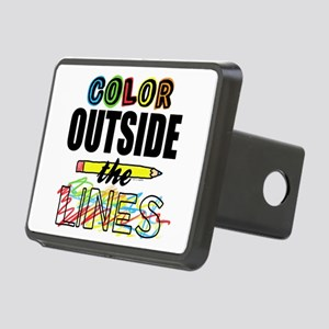 Color Outside The Lines Rectangular Hitch Cover