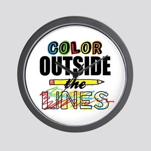 Color Outside The Lines Wall Clock