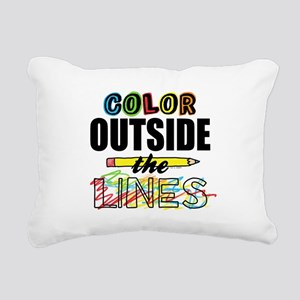 Color Outside The Lines Rectangular Canvas Pillow