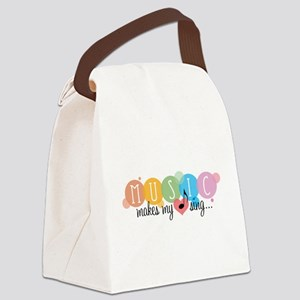 Music Makes My Heart Sing Canvas Lunch Bag