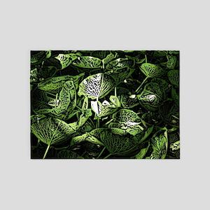 Lilypad Woodcut 5'x7'Area Rug