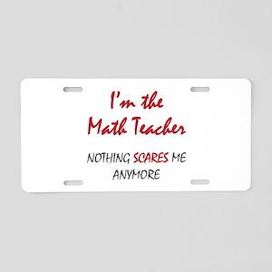 Math Teacher Aluminum License Plate