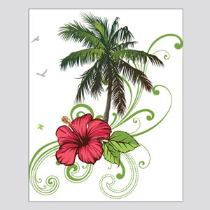 Tree with Hibiscus Posters