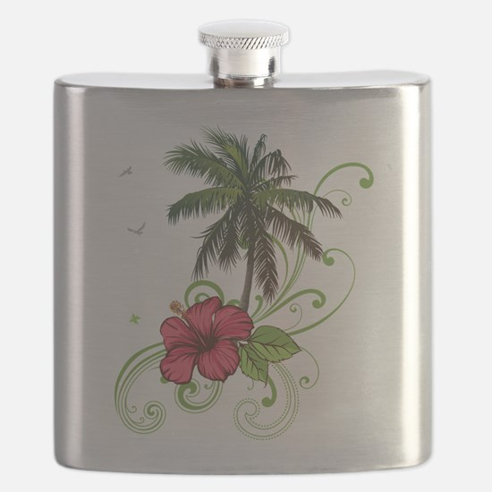 Tree with Hibiscus Flask