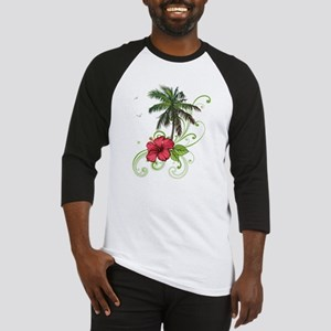 Tree with Hibiscus Baseball Jersey