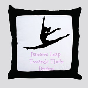 Dancers Leap Towards Their Dreams Throw Pillow