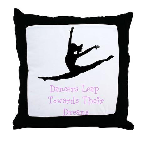 Dancers Leap Towards Their Dreams Throw Pillow
