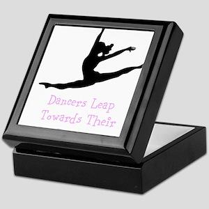 Dancers Leap Towards Their Dreams Keepsake Box