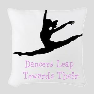 Dancers Leap Towards Their Dreams Woven Throw Pill