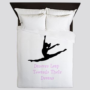 Dancers Leap Towards Their Dreams Queen Duvet