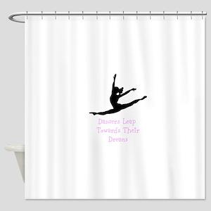 Dancers Leap Towards Their Dreams Shower Curtain