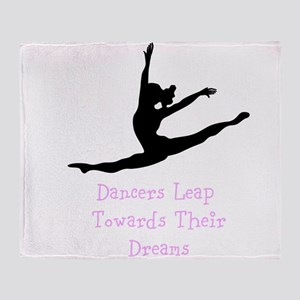 Dancers Leap Towards Their Dreams Throw Blanket