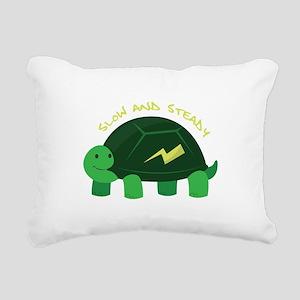 Slow & Steady Rectangular Canvas Pillow
