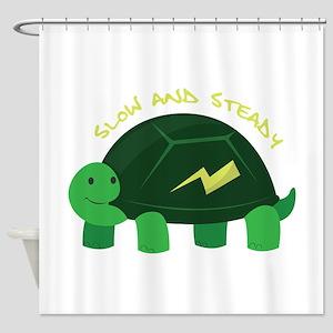 Slow & Steady Shower Curtain