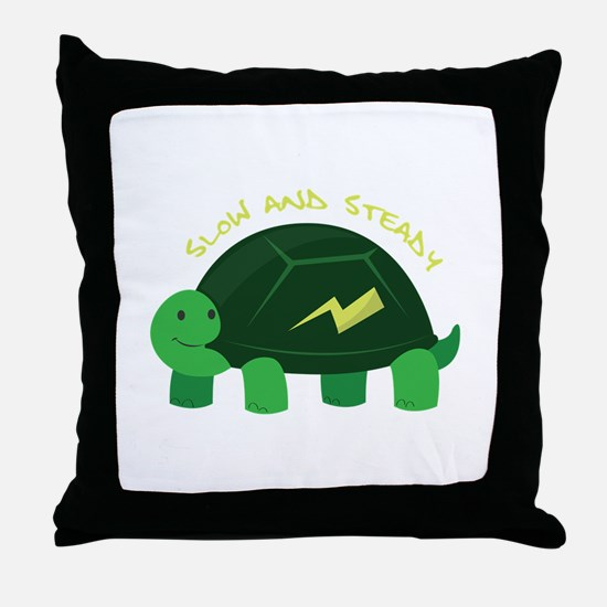 Slow & Steady Throw Pillow