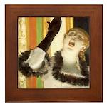 Degas Singer Framed Tile