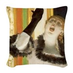 Degas Singer Woven Throw Pillow