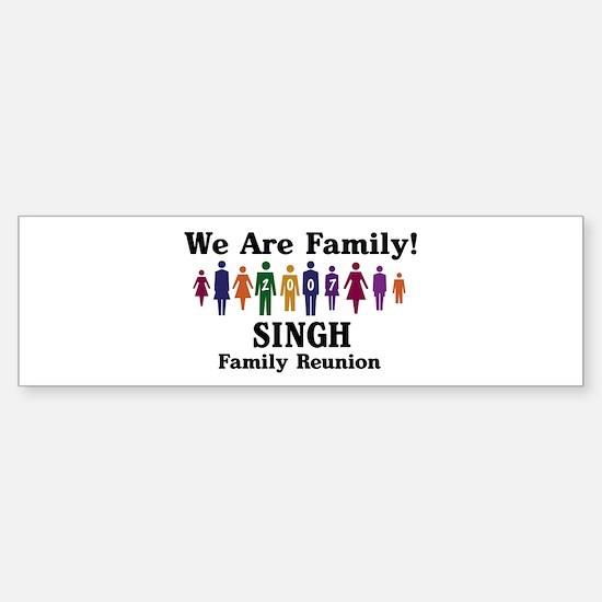 SINGH reunion (we are family) Bumper Bumper Bumper Sticker