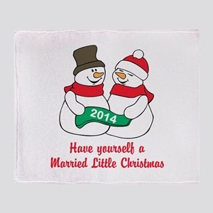 Christmas Newlyweds Throw Blanket